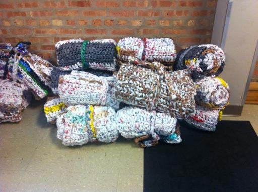 plastic yarn mats