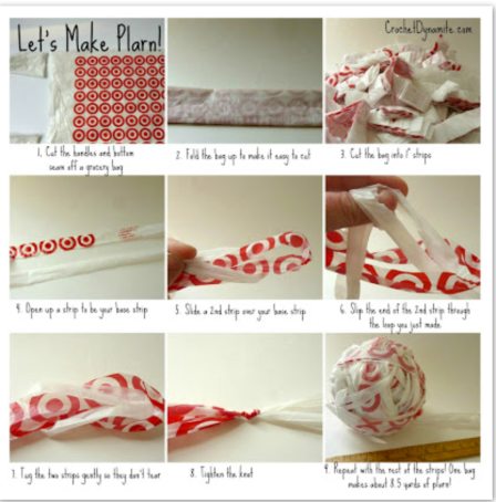 instructions for plastic bag mats