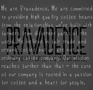 Pravadence Coffe, giving back with each bag