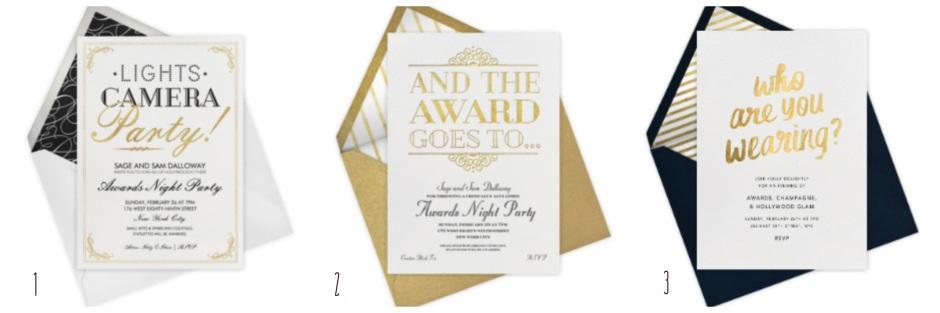 Oscars Gold Invitations