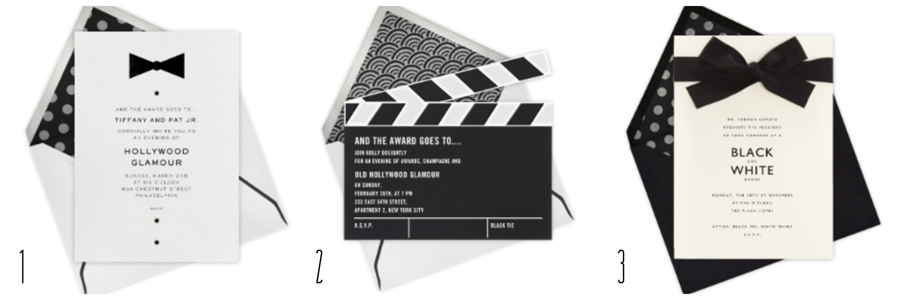 Black And White Party Invitations gangcraftnet