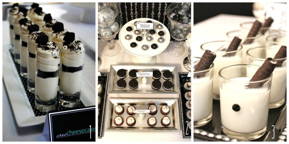 The Oscars Black + White- Desserts